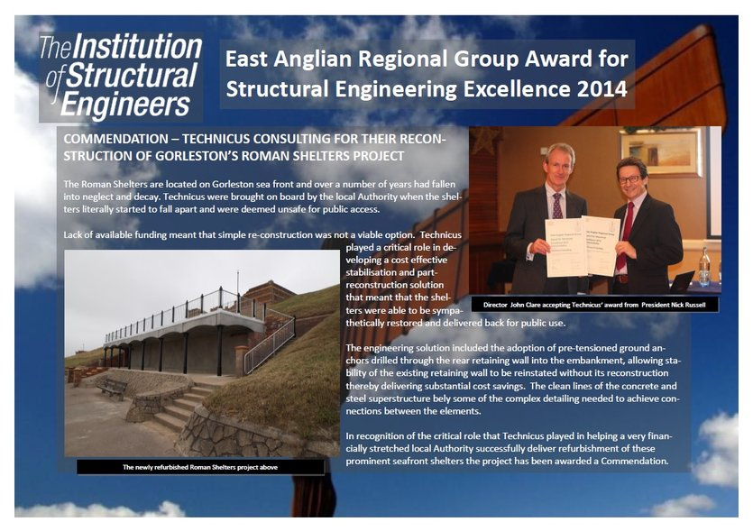 Institution of Structural Engineers EARG Award for Structural Engineering Excellence 2014